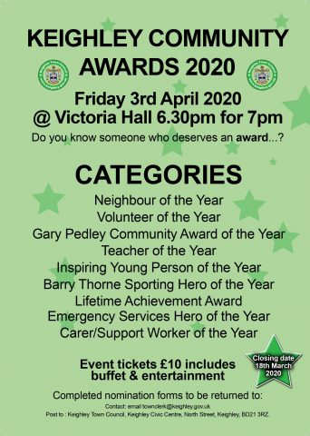 Keighley Community Awards Poster